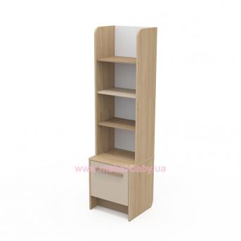 Книжный шкаф кв-05 Акварели Коричневые
