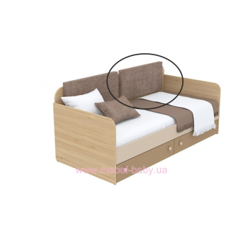Мягкая накладка для кровати-дивана кв-11-3n Акварели Коричневые