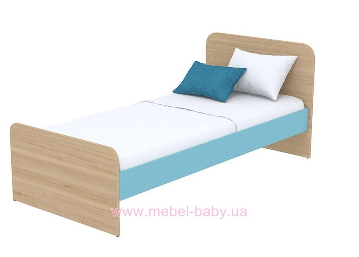 Кровать (матрас 900*1900) кв-11-10 бирюзовая