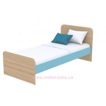 Кровать (матрас 900*2000) кв-11-1 Акварели Бирюзовые