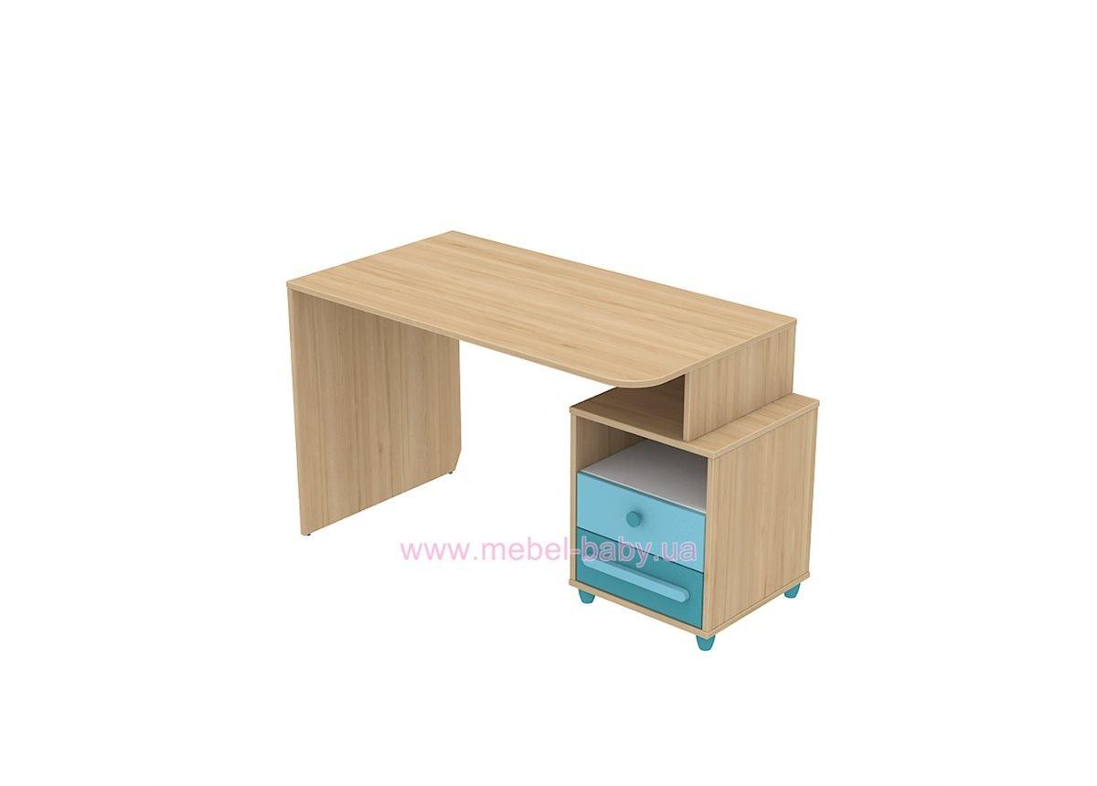 Письменный стол кв-08-1 Акварели Бирюзовые
