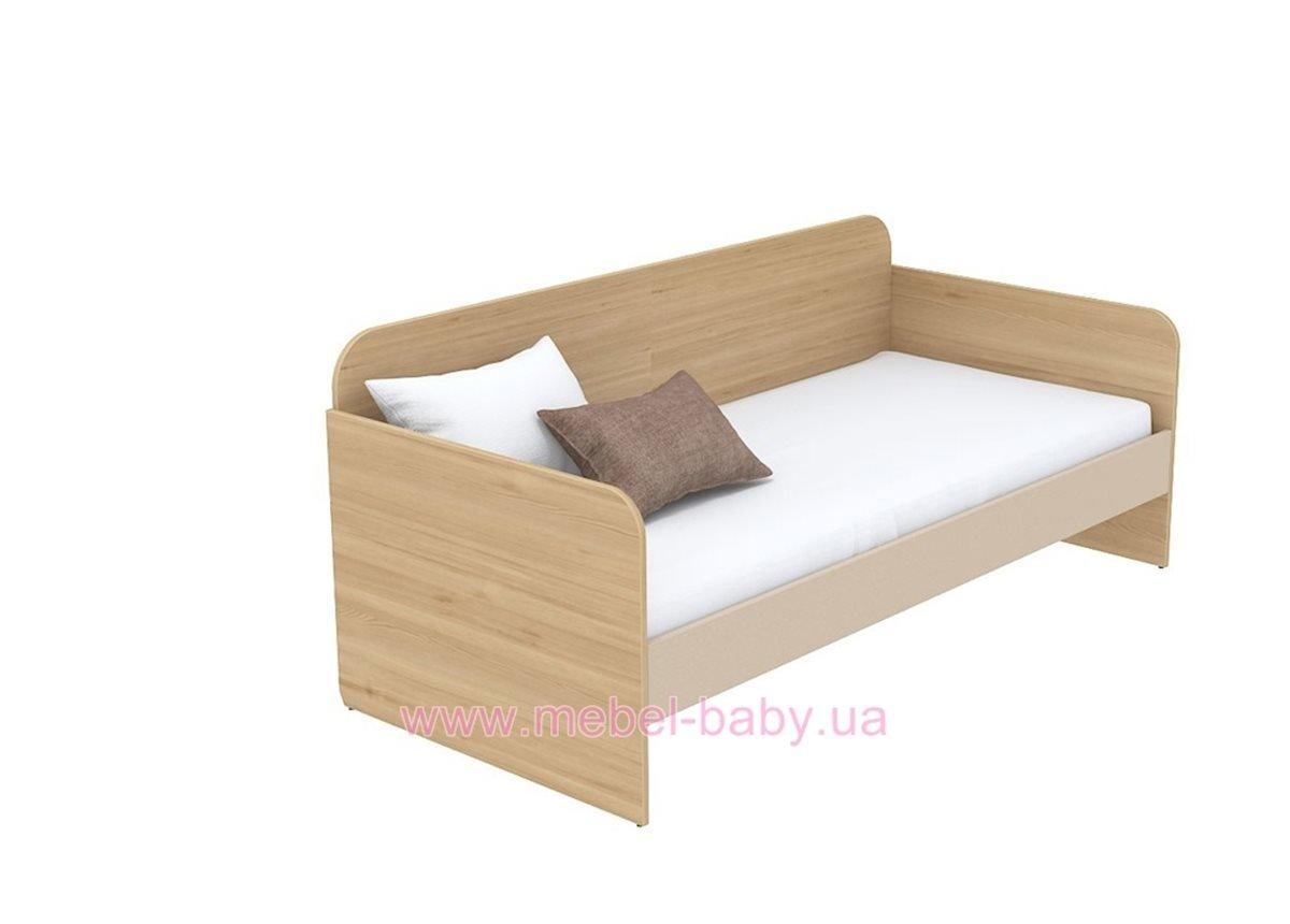 Кровать-диван (матрас 800*1600) кв-11-7 Акварели Коричневые