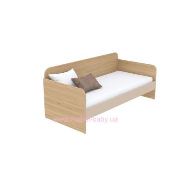 Кровать-диван (матрас 800*1800) кв-11-6 Акварели Коричневые