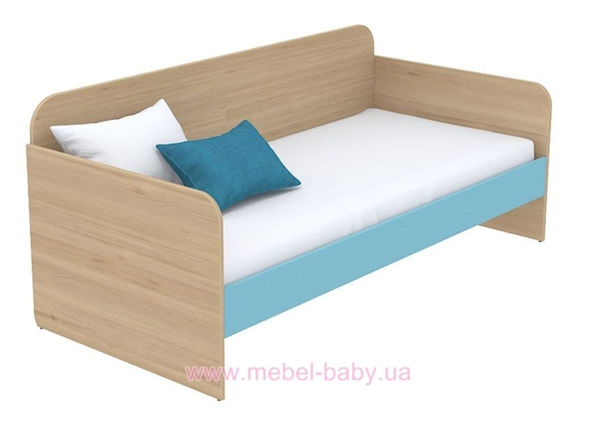 Кровать-диван (матрас 800*1800) кв-11-6 Акварели Бирюзовые