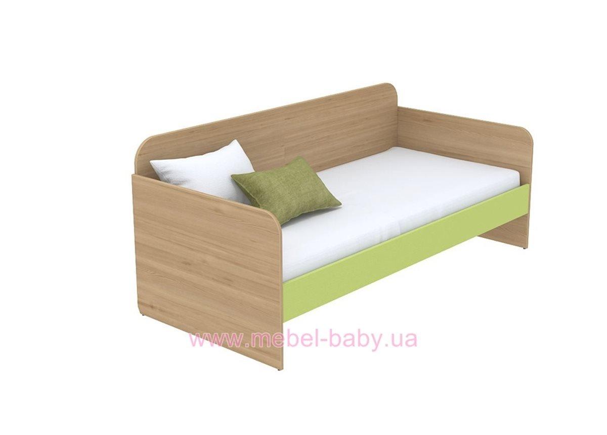 Кровать-диван (матрас 800*1600) кв-11-7 Акварели Зеленые