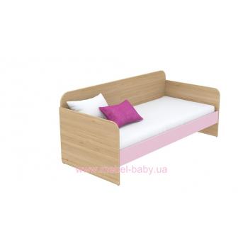 Кровать-диван (матрас 800*1800) кв-11-6 Акварели Розовые