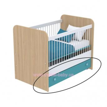 Выдвижной ящик для кровати для новорожденных кв-13-50 Акварели Бирюзовые