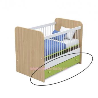 Выдвижной ящик для кровати для новорожденных кв-13-50 Акварели Зеленые