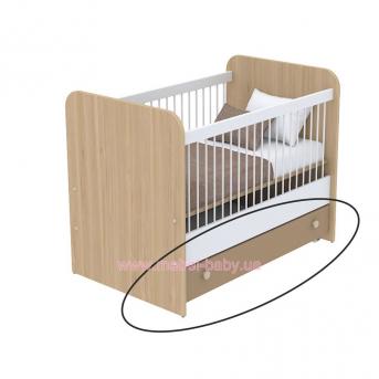 Выдвижной ящик для кровати для новорожденных кв-13-50 Акварели Коричневые