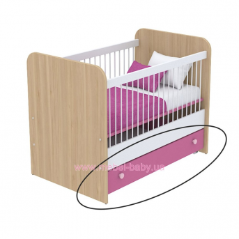 Выдвижной ящик для кровати для новорожденных кв-13-50 Акварели Розовые