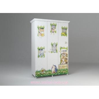 Шкаф гардеробный с 2-мя выдвижными ящиками с принтом Енран