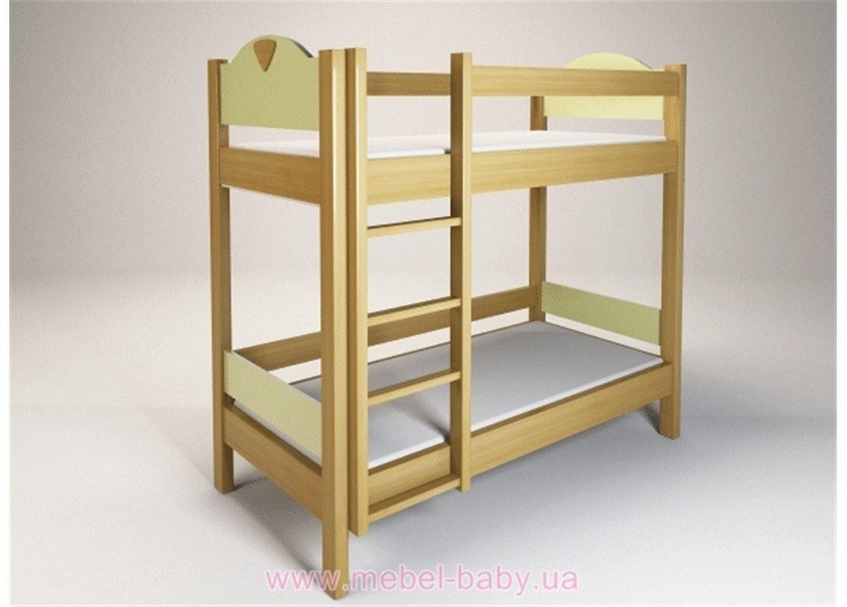 Двухъярусная кровать Эльф Енран 90х200 Салатовый ЛДСП
