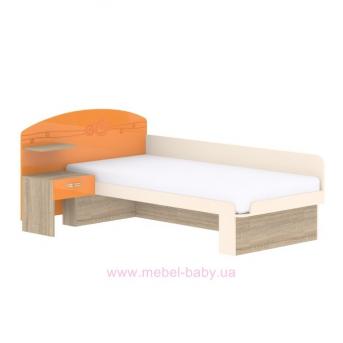 Кровать T-L-22 Edican Троянда оранжевая