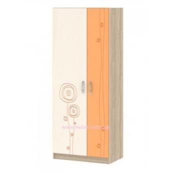 Шкаф T-SHR-02 Edican Троянда оранжевая