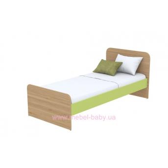 Кровать (матрас 800*1600) кв-11-9 зеленая
