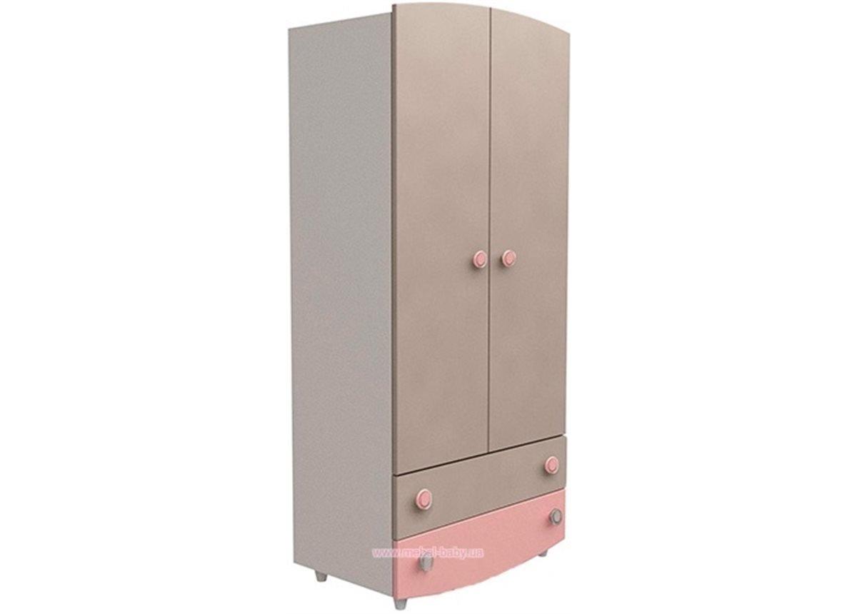 Шкаф №1 Верес капучино/розовый