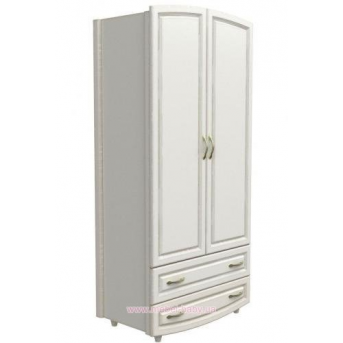 Шкаф №1 Верес МДФ белый филенчатый
