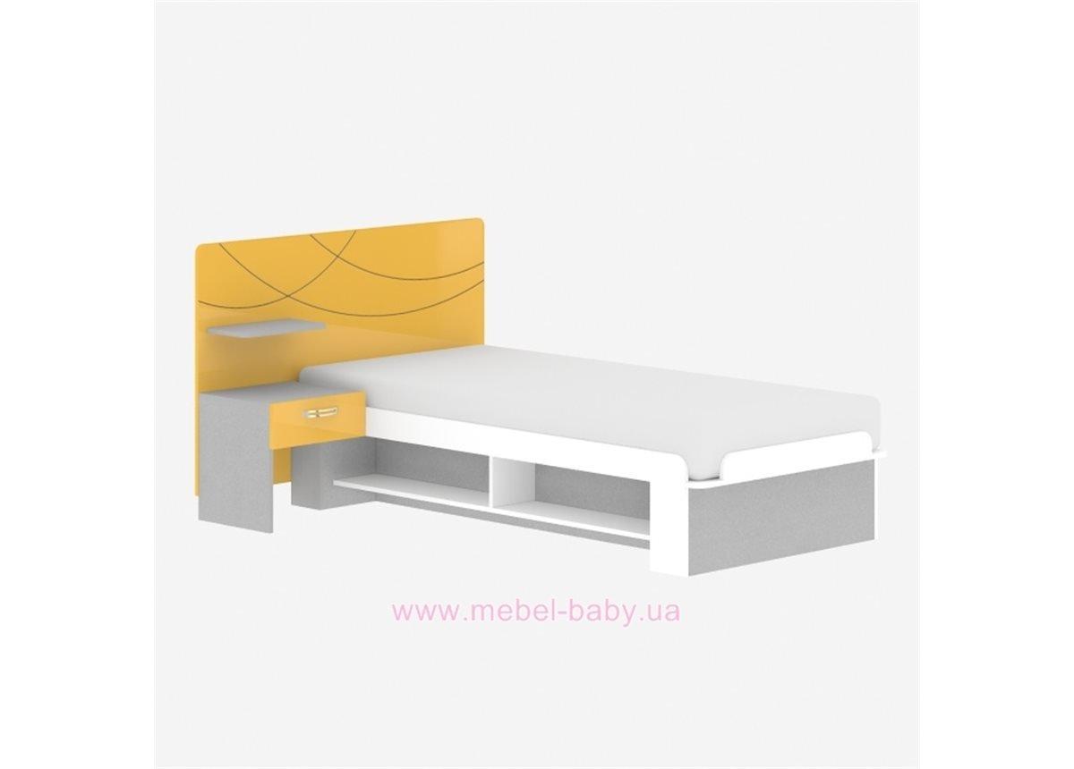 Кровать F-L-20 Edican Фантазия желтая