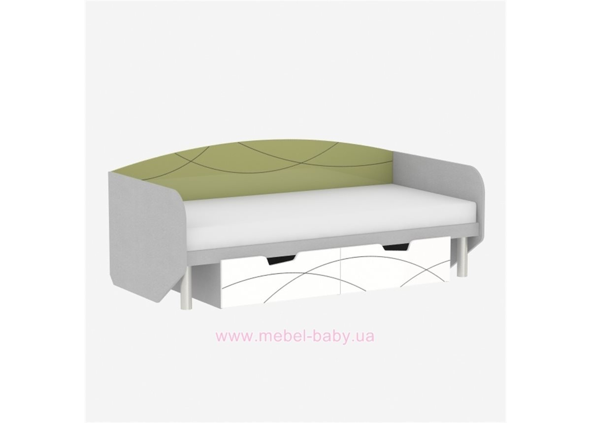 Кровать F-L-01 Edican Фантазия оливковая