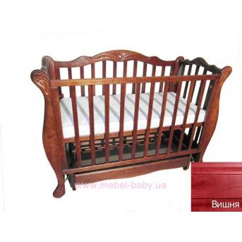 Кроватка с маятниковым механизмом поперечного качания Квіточка Колисани 60х120