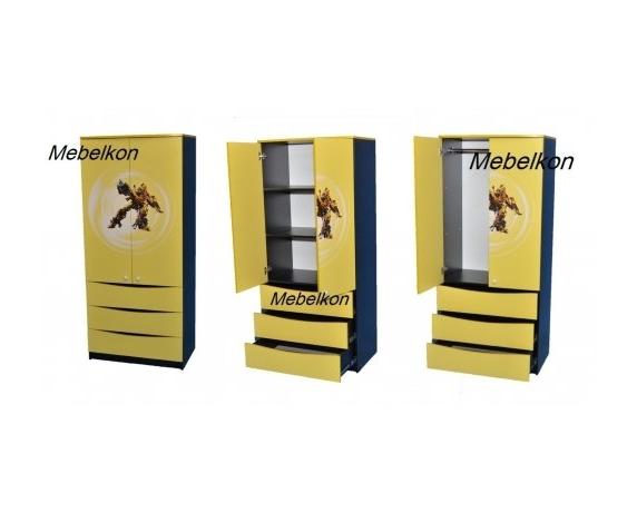 Шкаф Камаро желтый 211x80x50